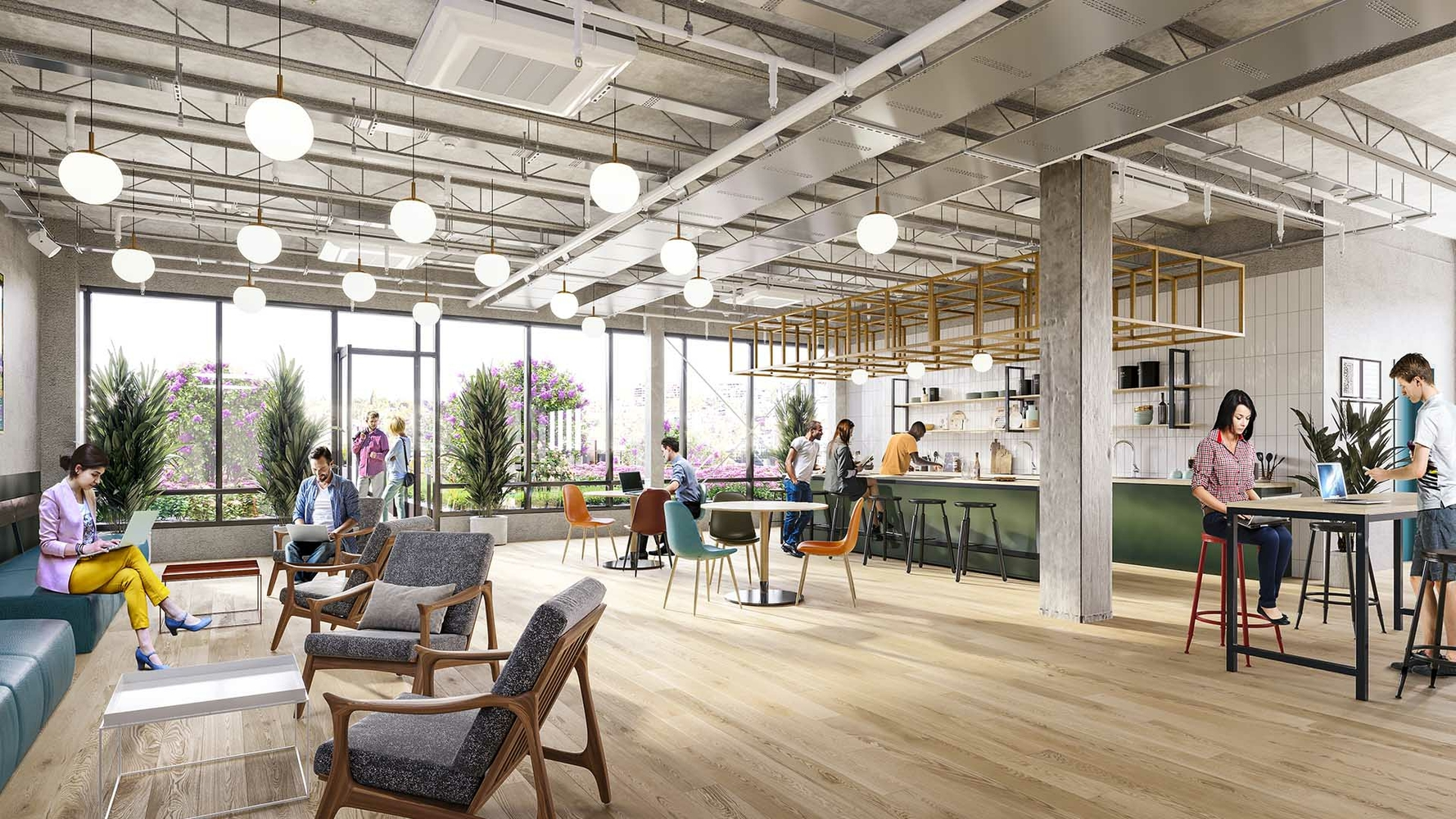 Still Renderings for Office Renovation gallery -