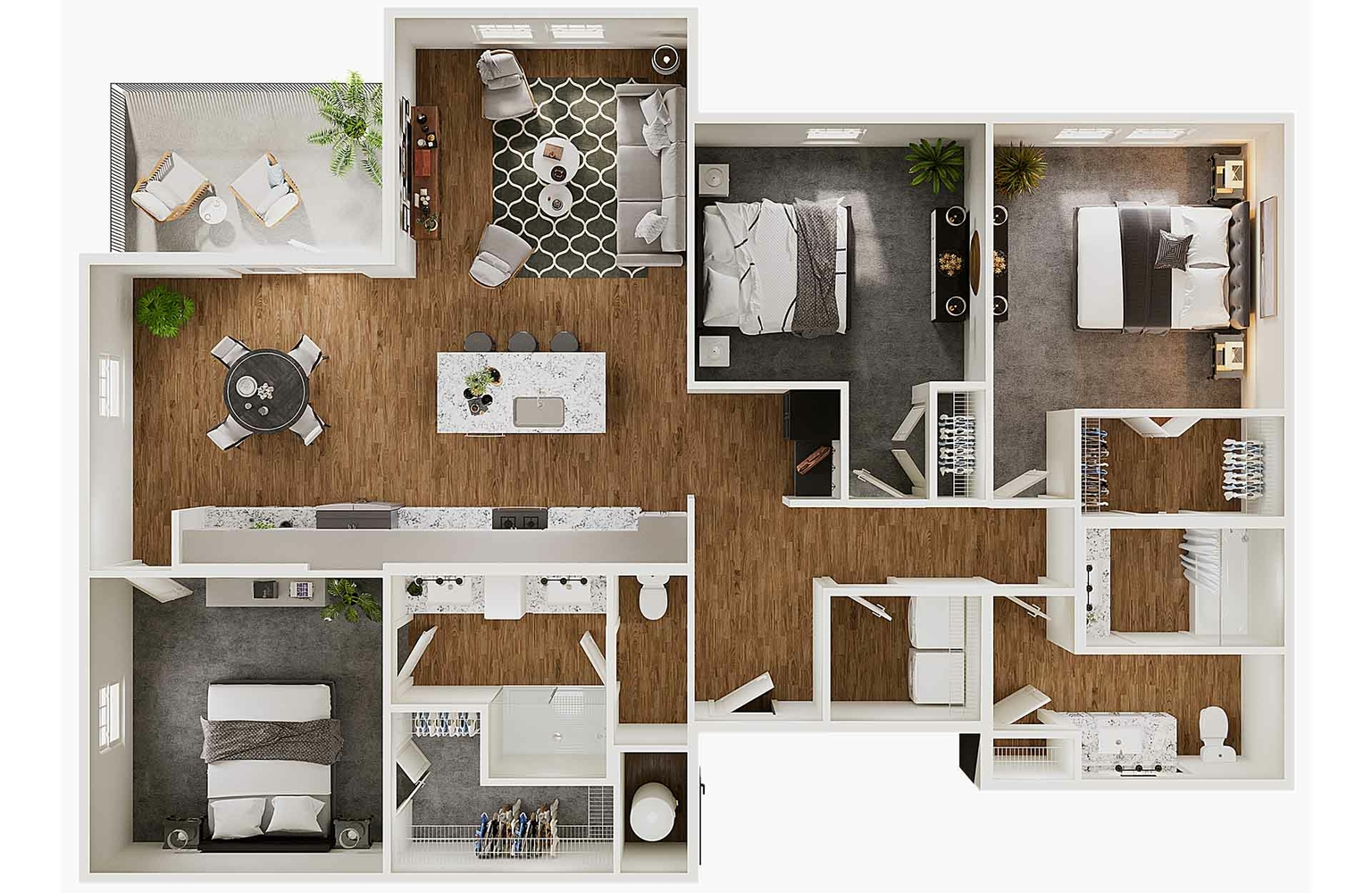 Floor Plans gallery - 3D Floorplan